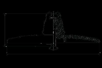 HV glass suspension insulator U120BA 212v