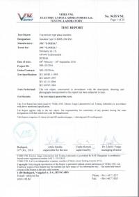 Test report U160BS