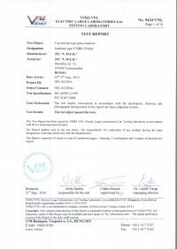 Test report U70BS