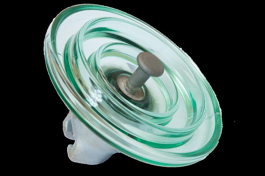 HV glass suspension insulator U160BSP - Electric Glass Insulators