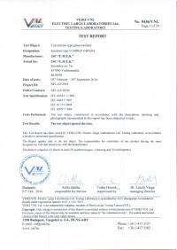 Test report U160BLP