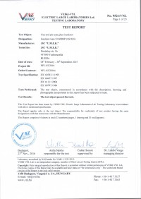 Test report U160BSP